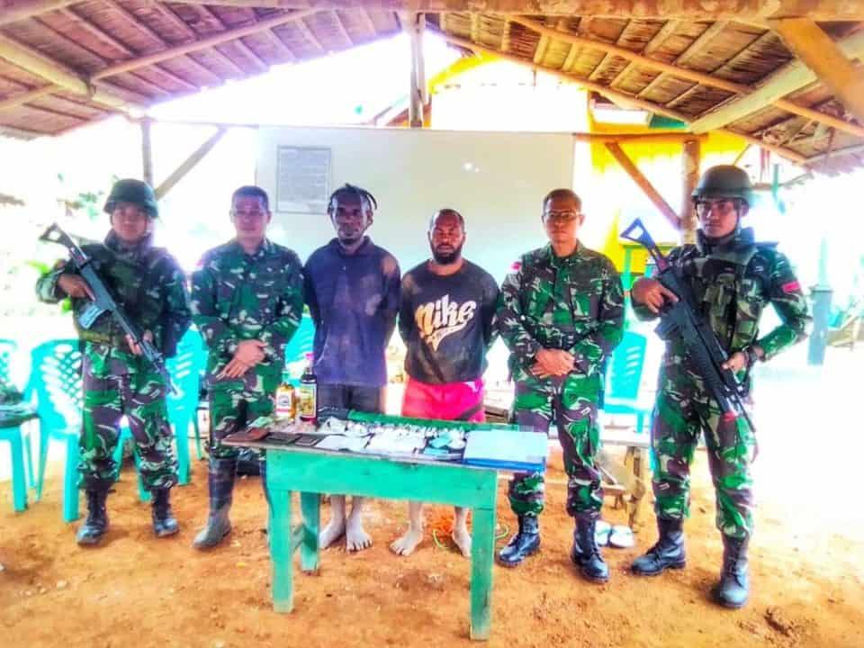 Beridentitas TPN-OPM Papua, Dua Warga Diamankan Satgas Yonif 406 di Wamena