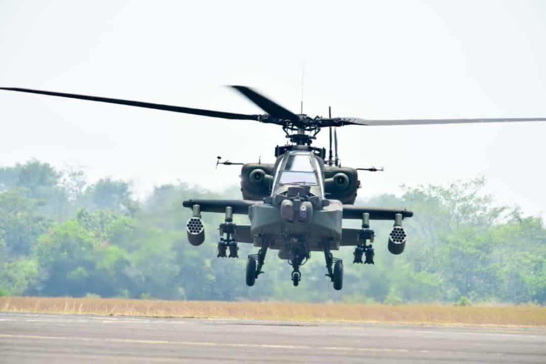 Heli Apache AH-64E Unjuk Kemampuan di Kartika Yudha 2019
