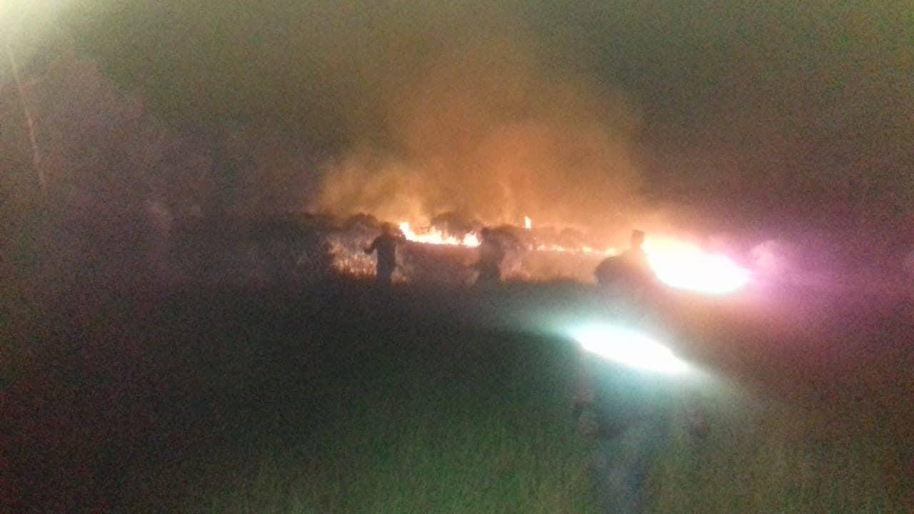 Dandim Palembang Pimpin Padamkan Kebakaran Lahan di Dekat JSC