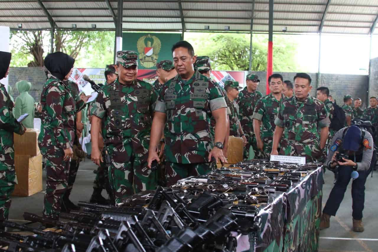Serahkan 174 Pucuk Senjata dan 7.332 butir Muhandak, Kasad Apresiasi Kodam IM dan Masyarakat Aceh