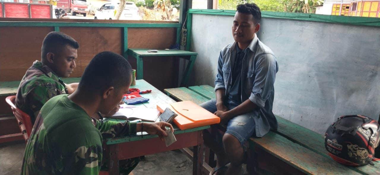 Bawa Tas Bermotif Bendera OPM, Seorang Pemuda Diamankan Satgas Yonif 734 di Halmahera