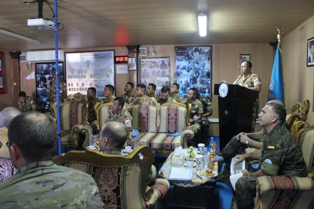Jelang Serah Terima Dansektor, Satgas Indobatt UNIFIL Paparkan Situasi Terkini di AOR