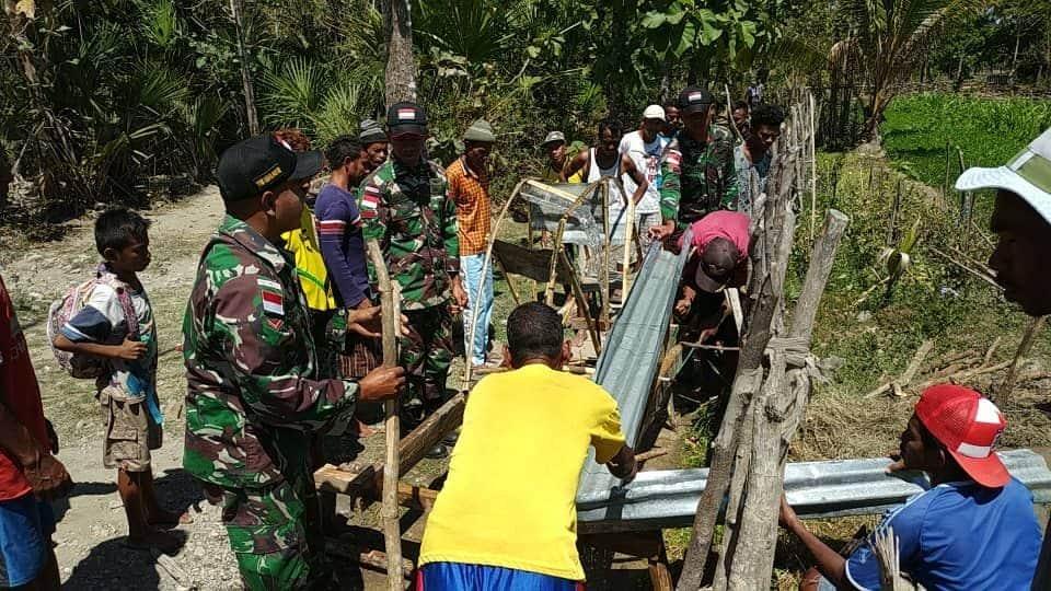 Kincir Air, Kiat Satgas Yonif R 408 Selamatkan Sawah Petani Belu