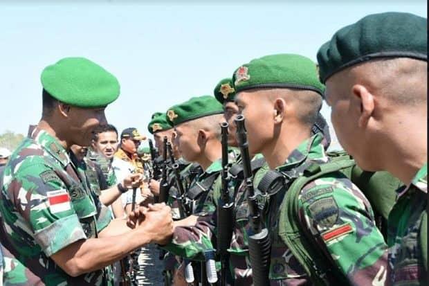 Danrem 161/WS Sambut Dua Batalyon Satgas Pamtas RI-RDTL 2019/2020