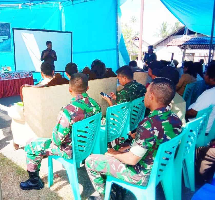 Dukung Pemanfaatan Sumber Daya Lokal, Satgas Yonif 734 Hadiri Workshop di Halmahera Utara
