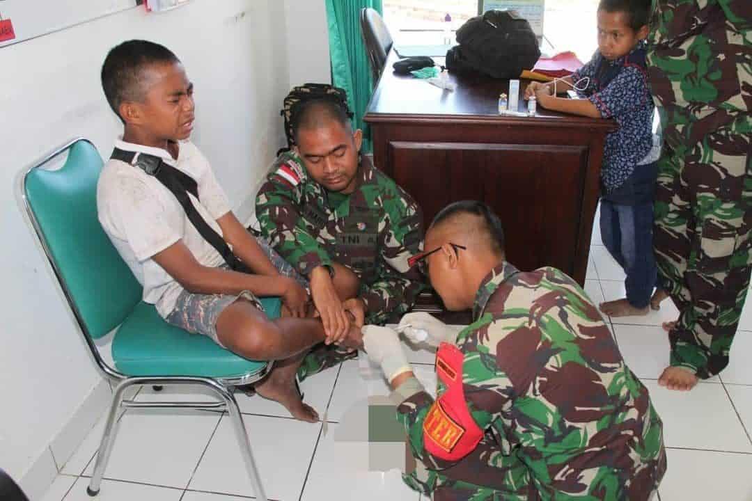 Peduli Masa Depan Generasi Muda, Satgas Yonif MR 411 Gelar Posyandu dan Pengobatan Gratis di Pedalaman Papua