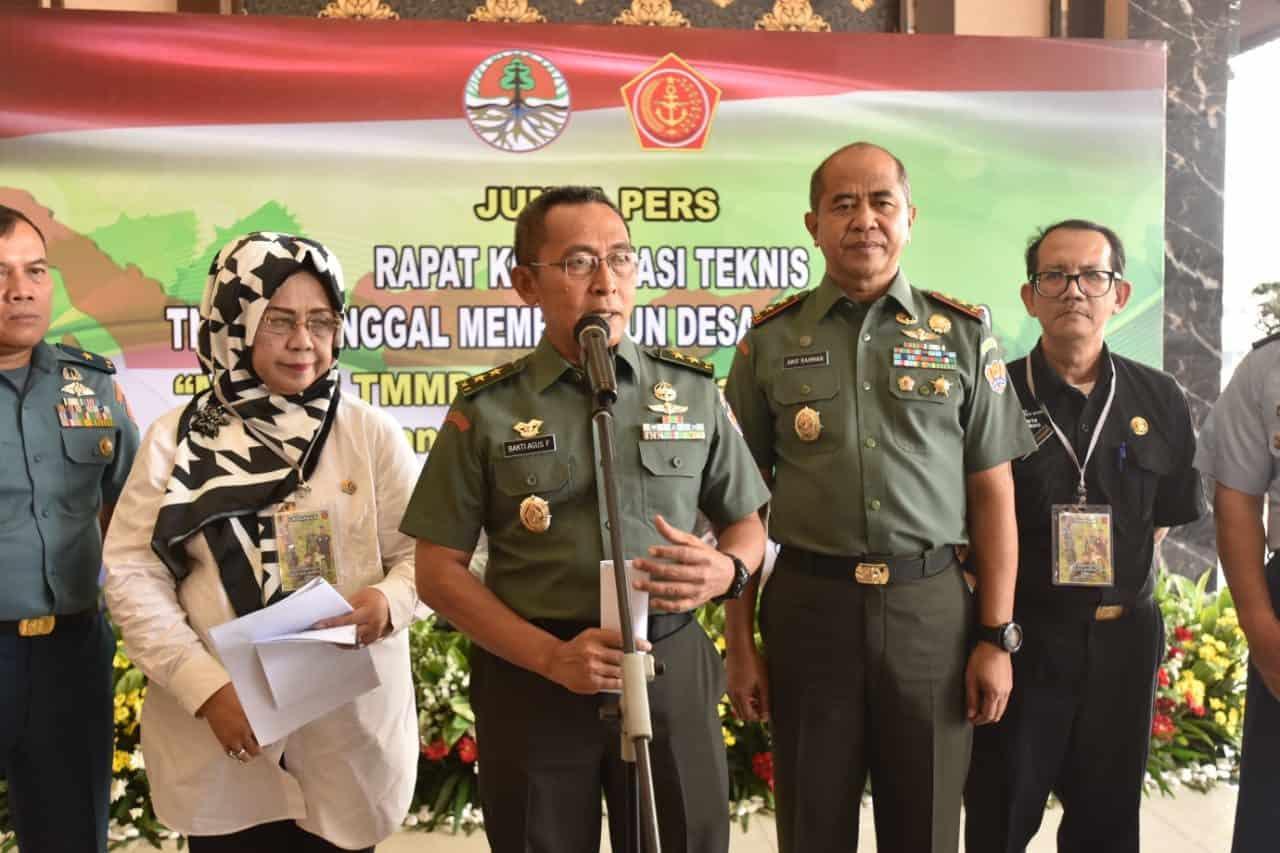 Bantu Percepat Pembangunan, TMMD ke-106, TNI Gandeng Kementerian LHK