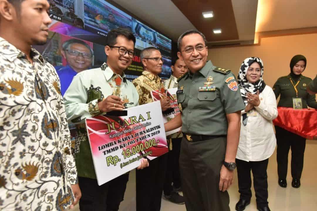 Penghargaan Jurnalis, TNI AD Apresiasi Dedikasi dan Kontribusi Media Dalam TMMD