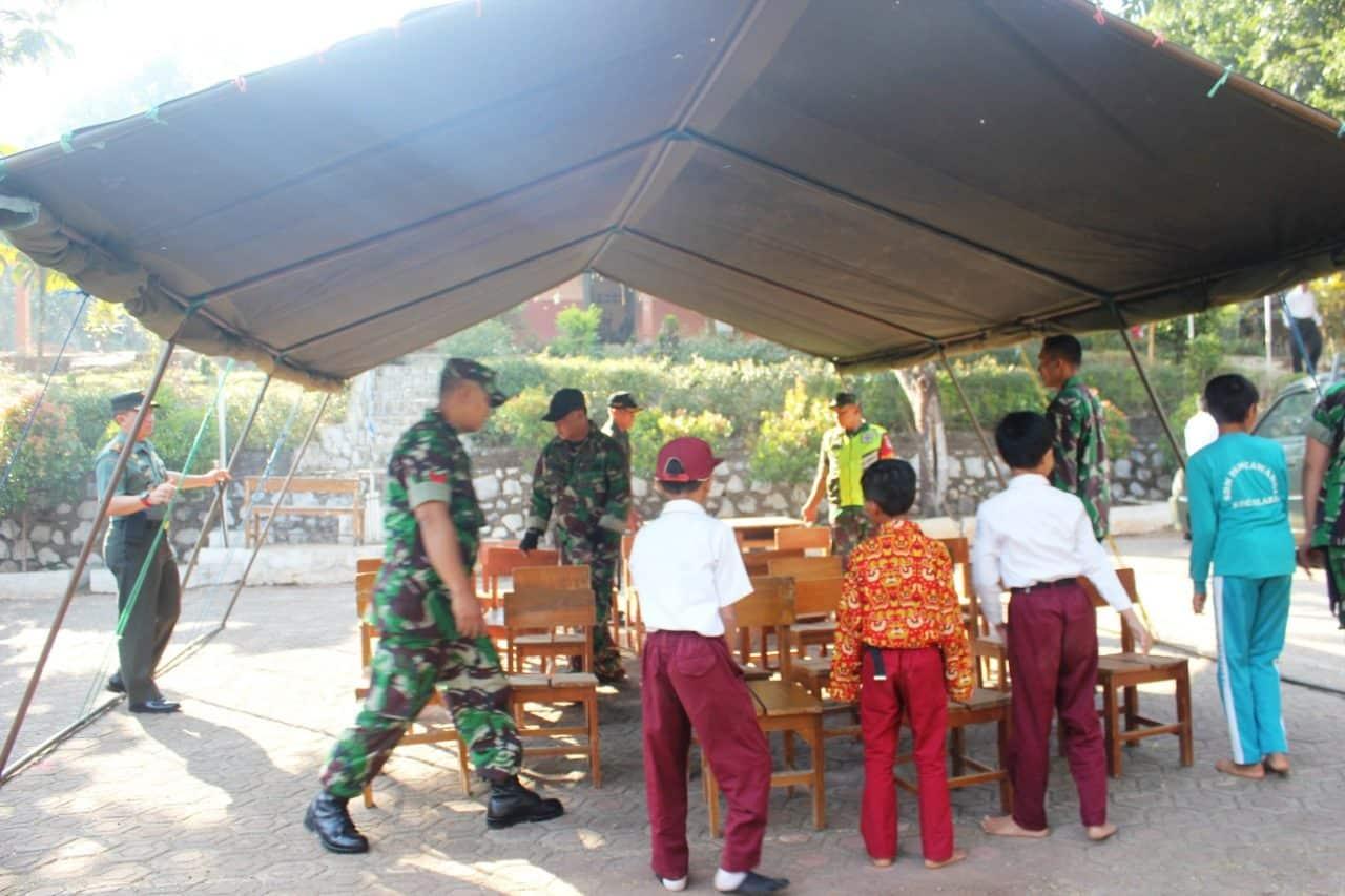SD Ambruk, Tenda Darurat Kodim 0608 Solusi Atasi Kegiatan Belajar Siswa