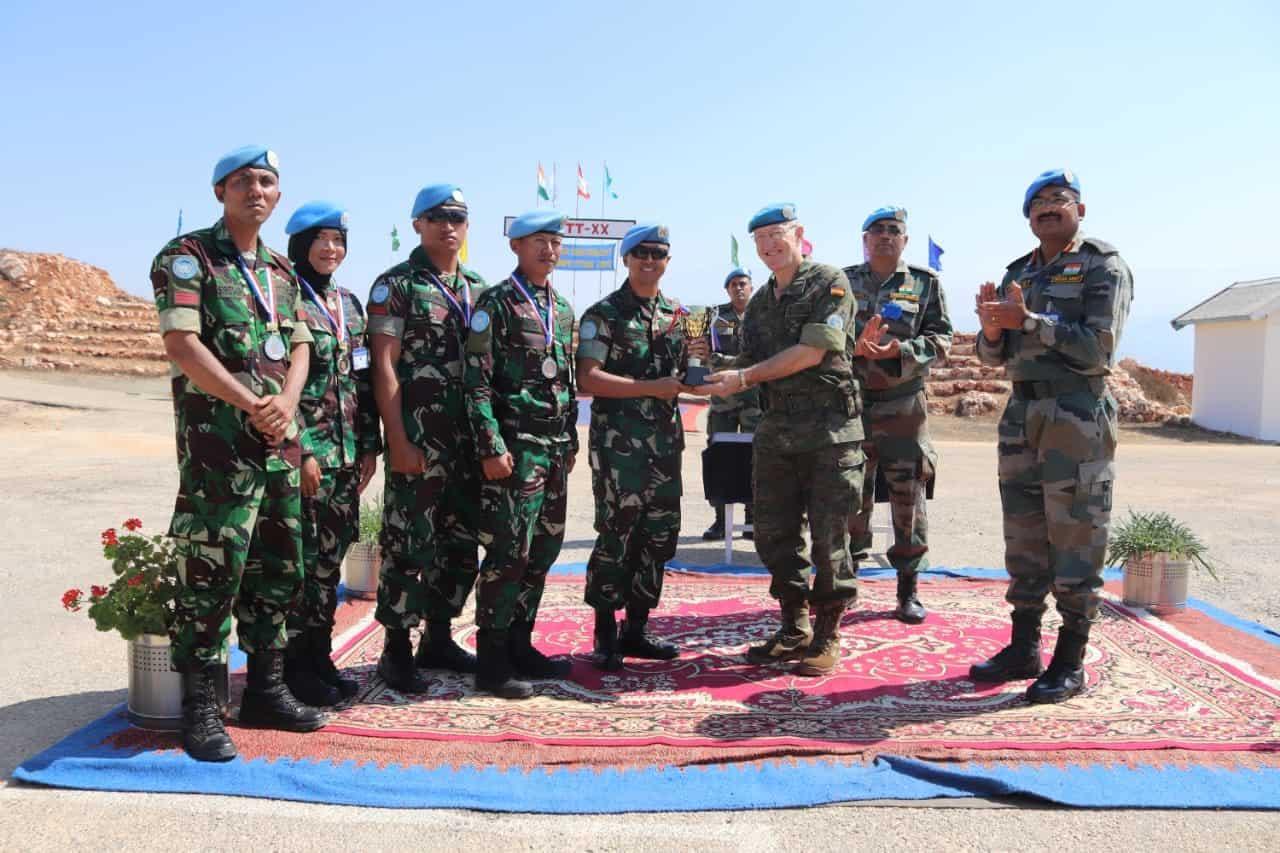 Satgas Indobatt Juara Umum UNIFIL ICSC 2019 di Lebanon