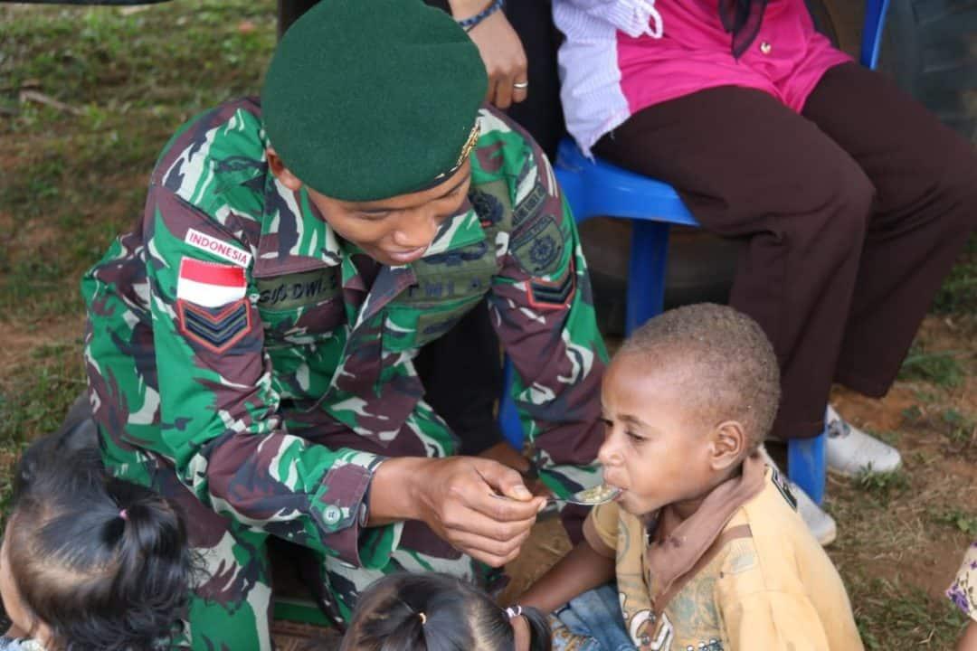 Bubur Kacang Hijau, Satgas Yonif MR 411 Peduli Gizi Anak Merauke