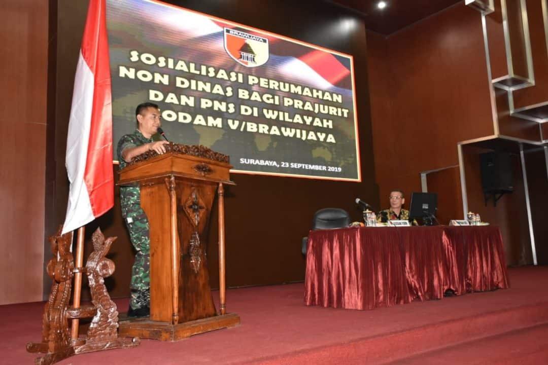 Tingkatkan Kesejahteraan Prajurit, Kodam Brawijaya Rangkul Pengembang Bangun Rumah Hunian