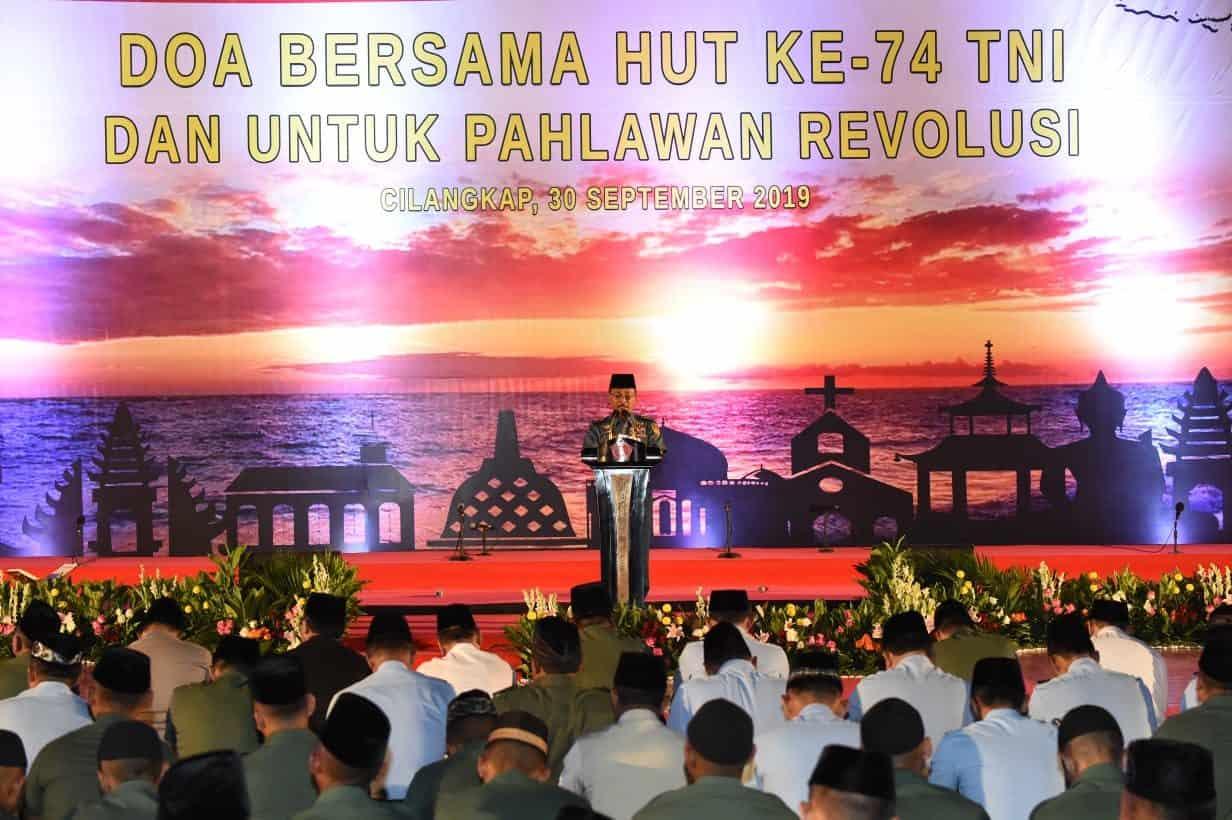 """Mabes TNI Gelar """"Doa Bersama HUT ke-74 TNI dan Untuk Pahlawan Revolusi"""""""