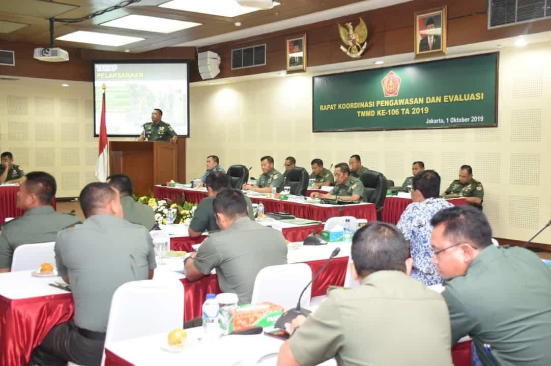 Pastikan Kesuksesan TMMD 106, TNI AD Terjunkan 25 Pati Sebagai Tim Wasev