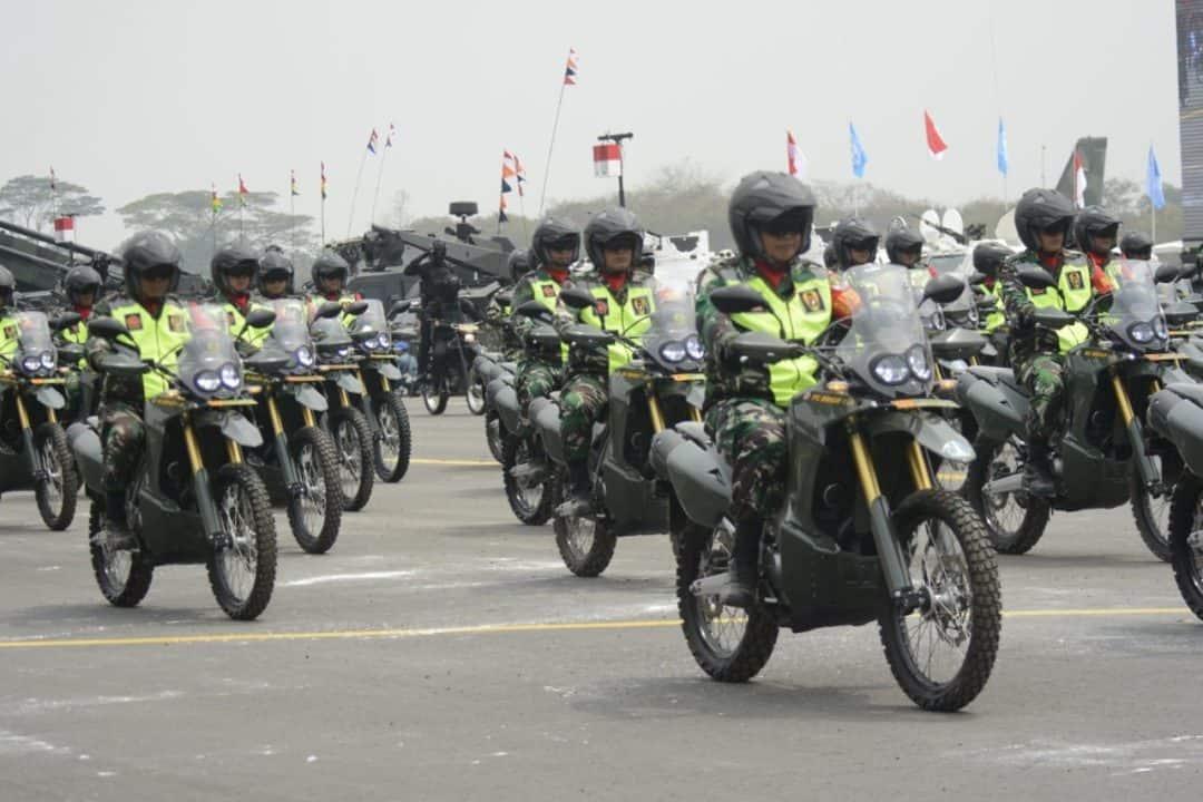Motor Babinsa Meriahkan HUT Ke-74 TNI di Halim