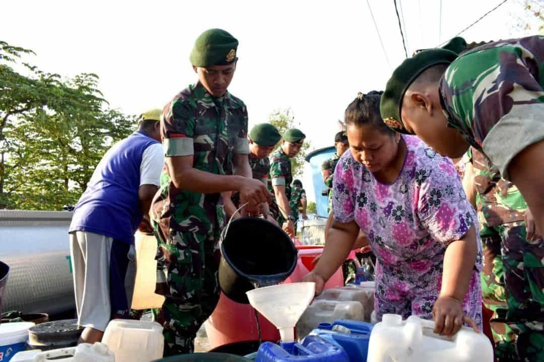 Gema Angicipi, Yonarmed 12 Peduli Air Bersih Warga Ngawi