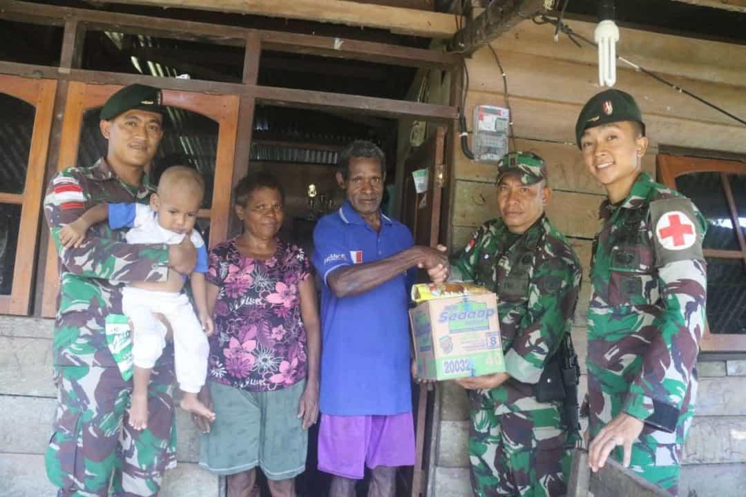 Frans Yaboisembut : Bantuan Bapak Satgas Sangat Berarti Bagi Kami