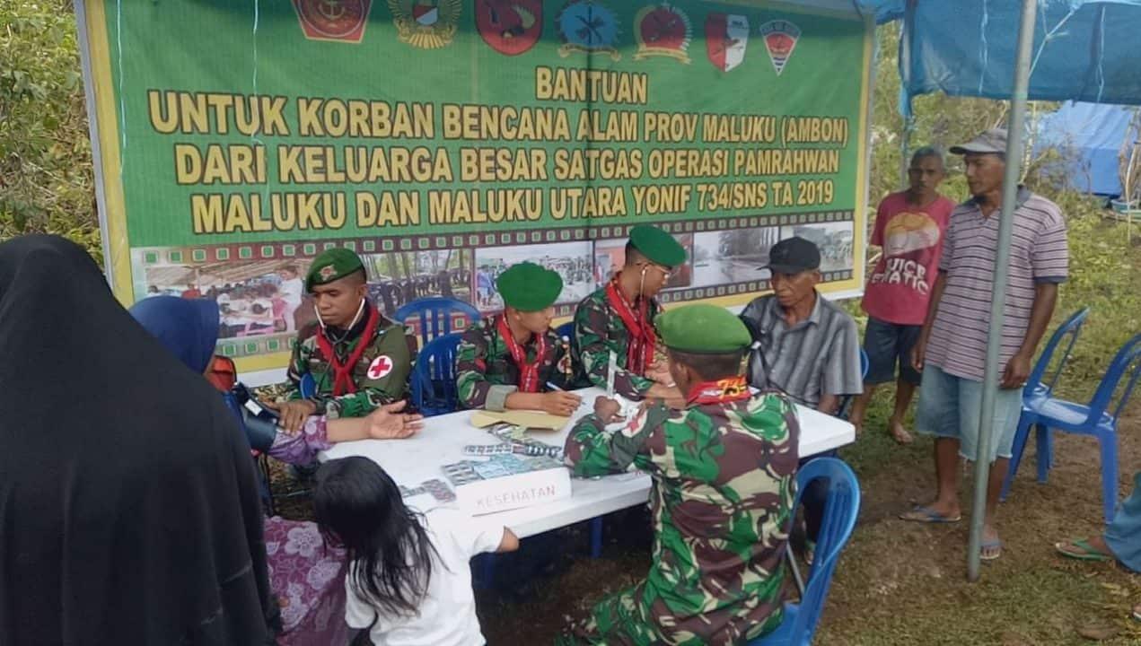 734/SNS, Gelar Pemeriksaan Kesehatan Warga Korban Gempa Ambon 0