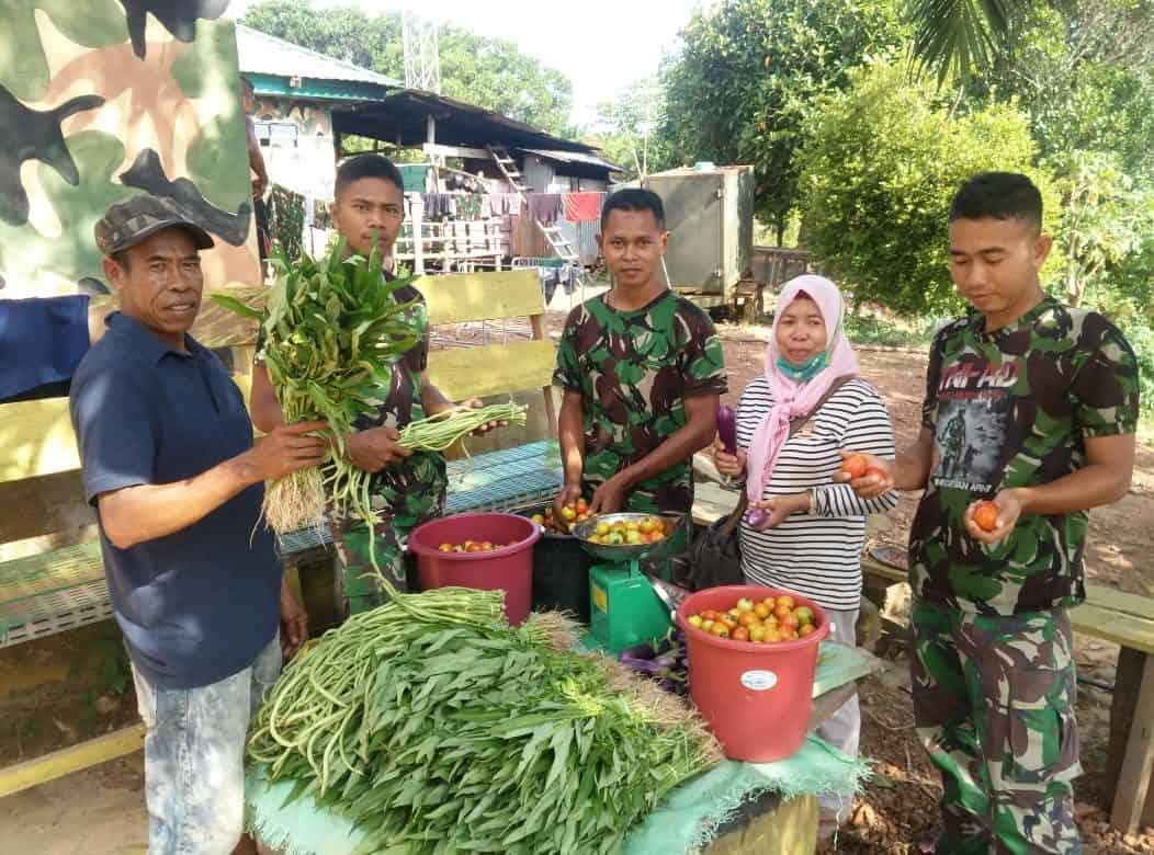 Budidaya Sayuran, Solusi Satgas Yonif 600 Bantu Kesehatan dan Ekonomi Warga Nunukan