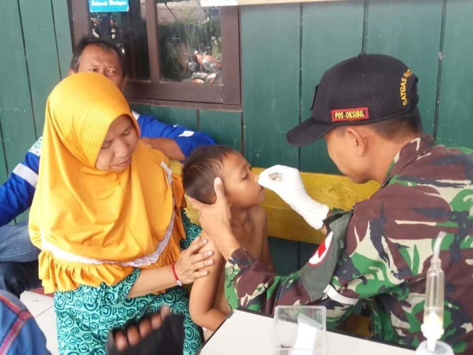 Peduli Warga Papua, Satgas Yonif 509 Gelar Layanan Kesehatan di Pegunungan Bintang