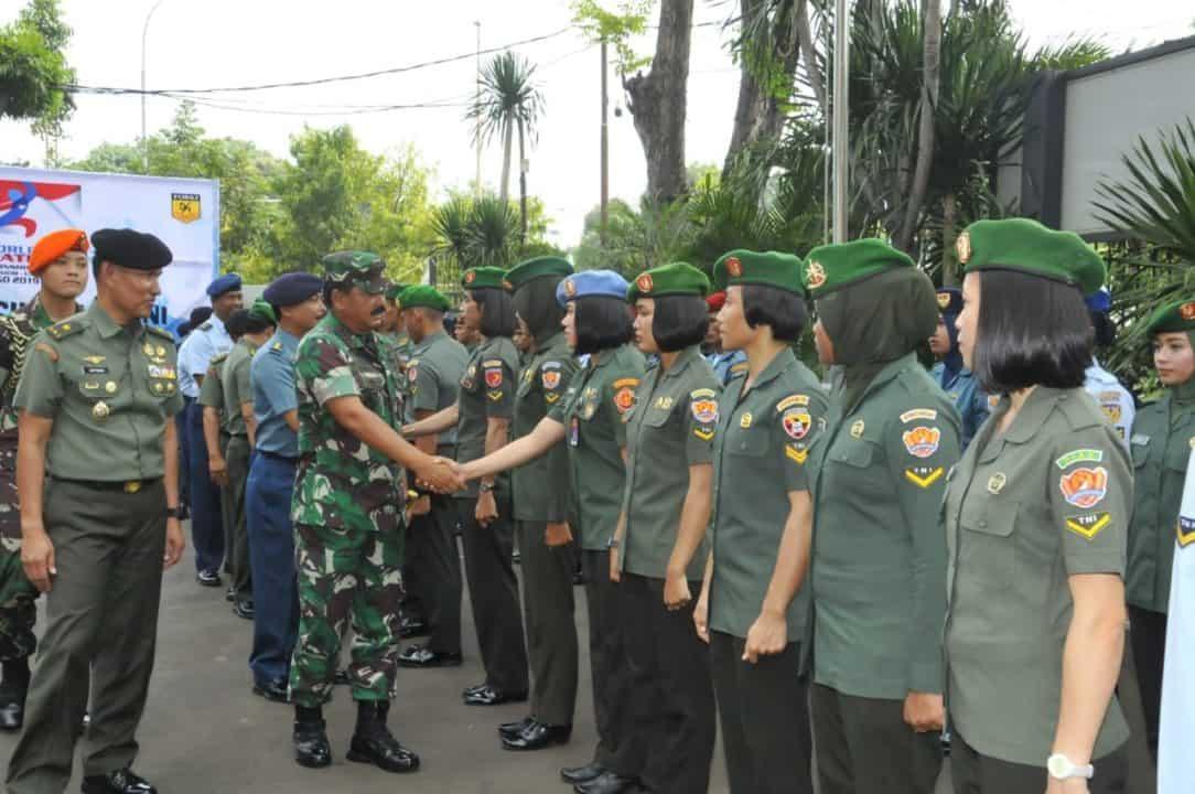 Panglima TNI Berangkatkan Atlet TNI dan Karateka Indonesia Ikuti Kejuaraan Kelas Dunia