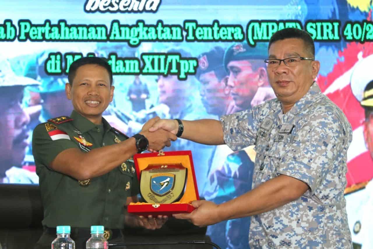 Pangdam XII/Tpr Terima Kunjungan Siswa Maktab Pertahanan Angkatan Tentera Siri 40/2020 Malaysia