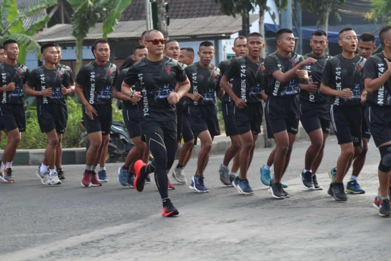 Ajak Sehat Seluruh Prajurit Garuda Nusantara, Ini Yang Dilakukan Danyonif Mekanis 741/GN