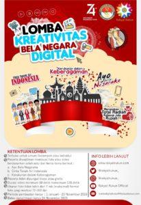 Lomba Kreativitas Bela Negara Digital Untuk Generasi Milenial