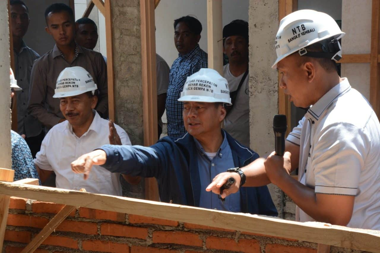 Wakasad Tinjau Progres Rehab Rekon Terpadu Di Lombok