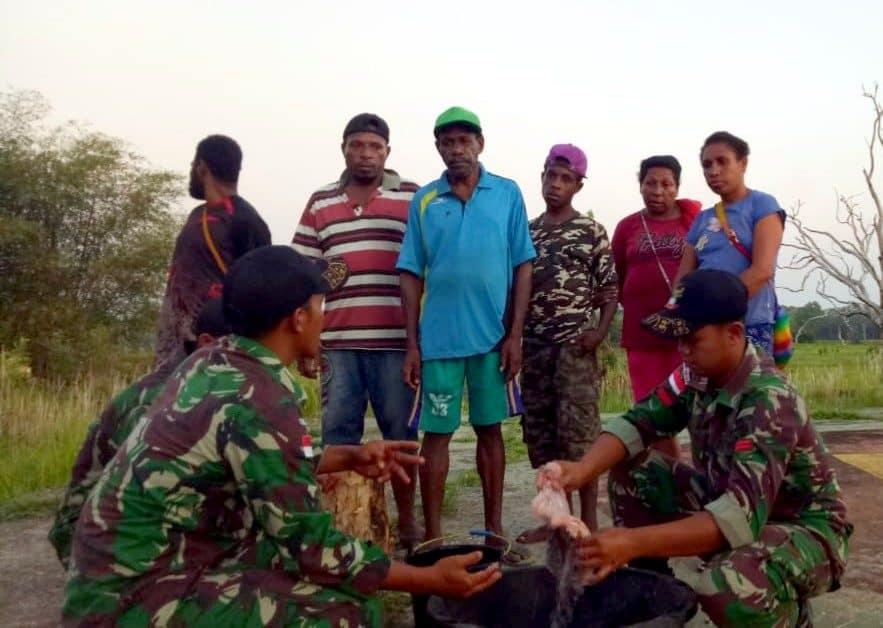 Berlimpah, Satgas Yonif MR 411 Jadikan Ikan Gastor Dongkrak Ekonomi Warga Merauke