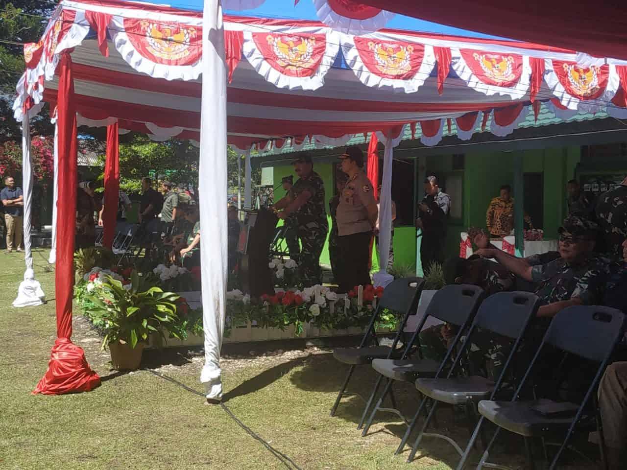 Satgas Pamtas RI-PNG Yonif Raider 514/SY Terima Pengarahan Panglima TNI