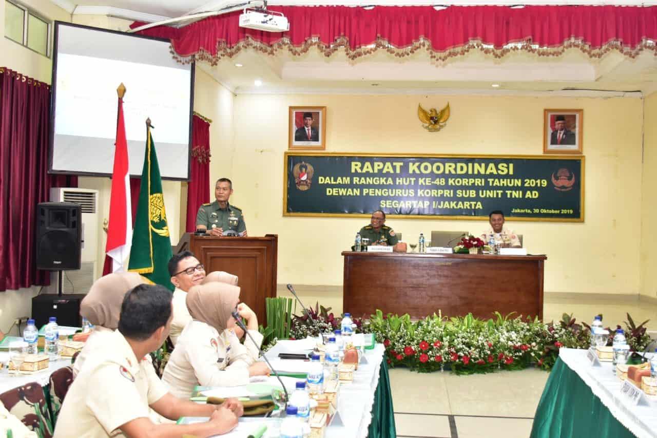Korpri Sub Unit TNI AD Gelar Rapat Koordinasi