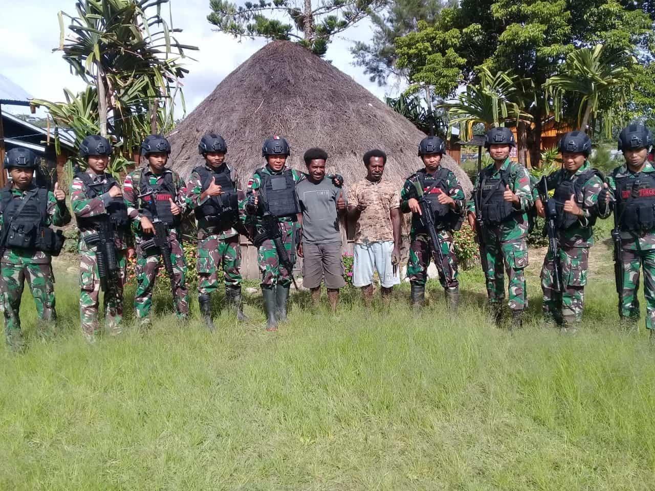 Pastikan Keamanan dan Kesehatan, Satgas Yonif R 514 Anjangsana ke Honai Warga di Distrik Muai