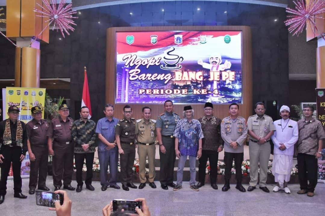 Ngopi Bareng Bang Je Pe Kodim 0501, Soroti Sistem Keamanan dan Bencana Alam di Jakarta