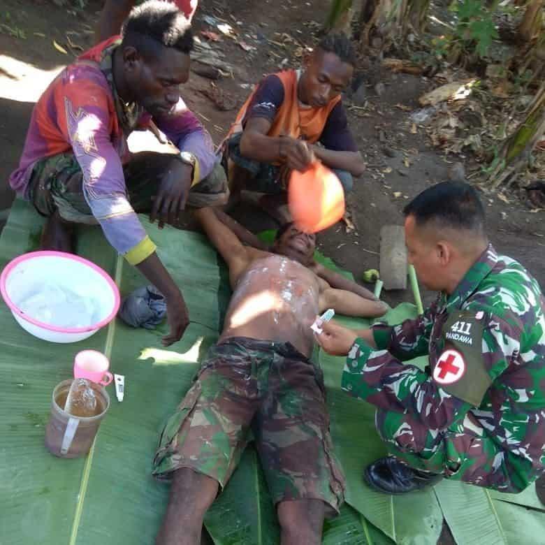 Pelayanan Kesehatan Keliling di Rawa Biru, Komitmen Satgas Yonif MR 411 Tingkatkan Kesmas Papua