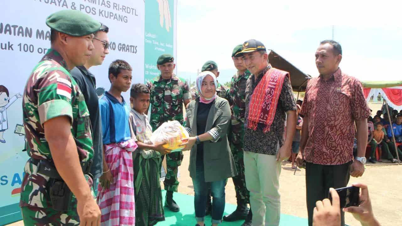 Wujudkan Kampung Sehat di Perbatasan RI-RDTL, Satgas Gelar Pelayanan Kesehatan