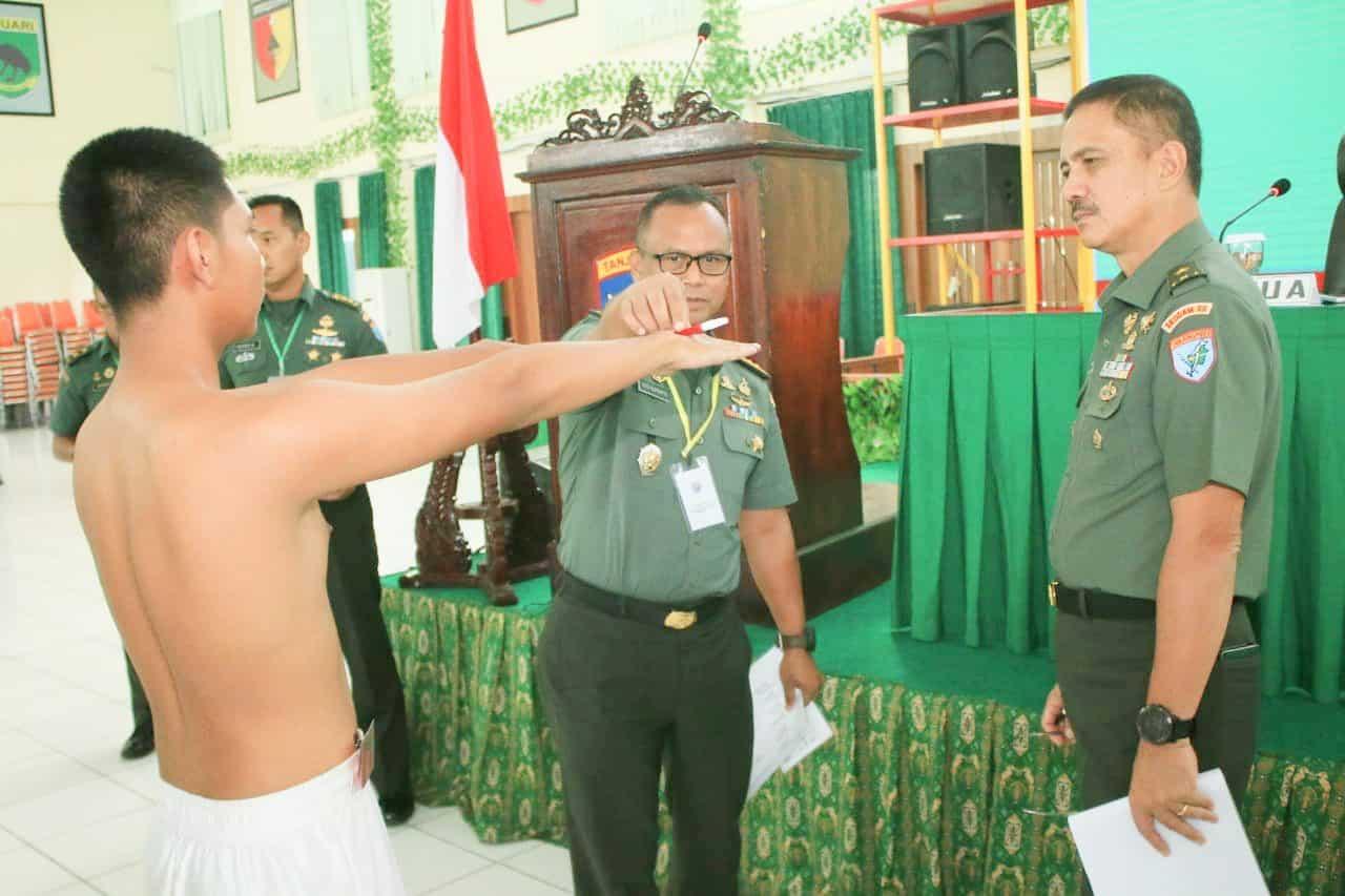 Kasdam XII/Tpr : Rekrutment Prajurit TNI AD Utamakan Objektivitas dan Kualitas