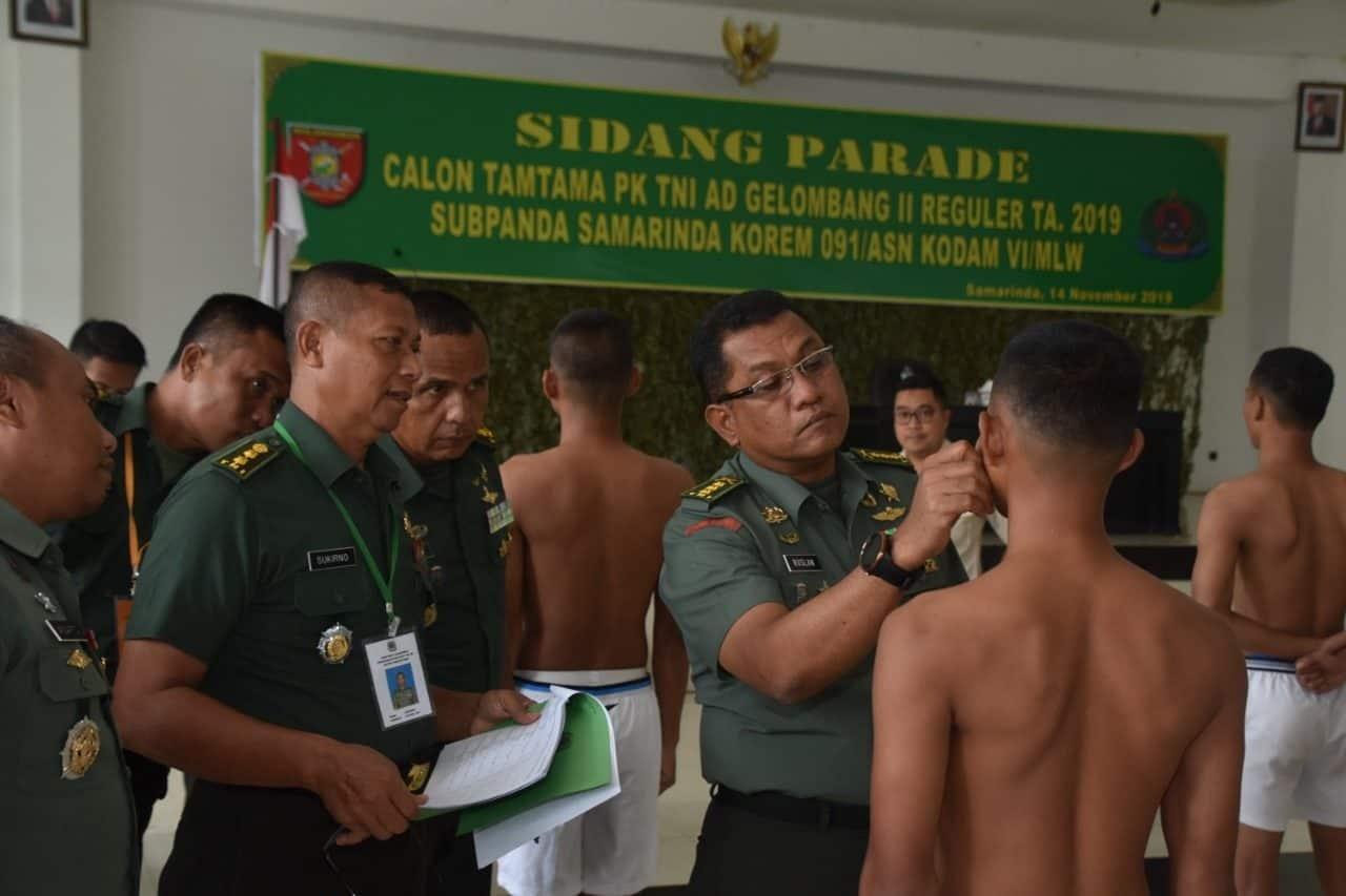 171 Putra Daerah Kaltim Ikuti Sidang Parade Seleksi Prajurit TNI AD