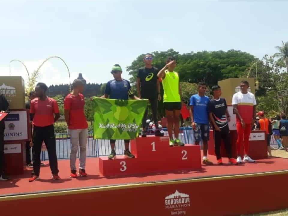 Membanggakan, Pratu M Ady Saputra Juara-2 Marathon Borobudur Run
