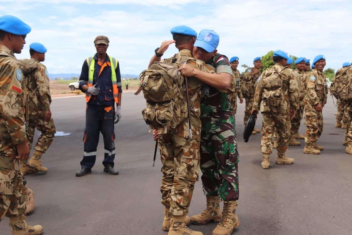 Tiba di Kongo, Satgas Indo RDB XXXIX-B Lanjutkan Misi Perdamaian Dunia