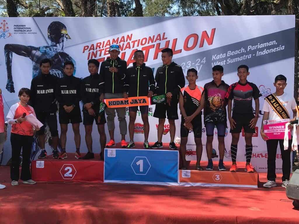 Atlet Kodam Jaya Sabet Juara I Pariaman International Triathlon 2019