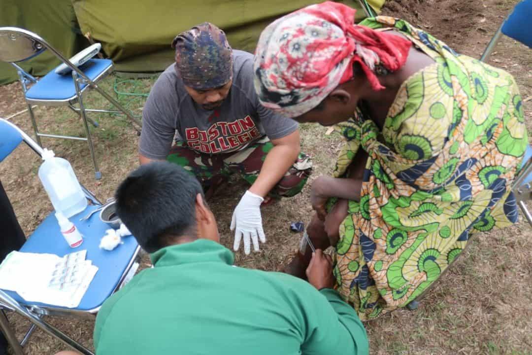 Satgas TNI RDB XXXIX-B/MONUSCO Selamatkan Warga Kongo dari Kelompok Bersenjata Gumino