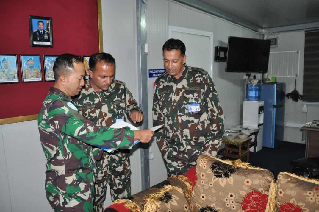 Kunjungan Dansatgas Nepal di Satgas Indobatt/UNIFIL Pererat Silaturahmi dan Kerjasama