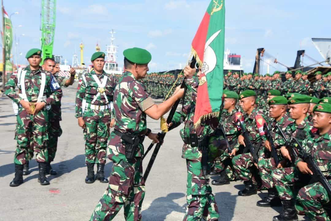 Pangdam I/BB Berangkatkan 450 Prajurit Yonif 133 ke Perbatasan RI-Malaysia