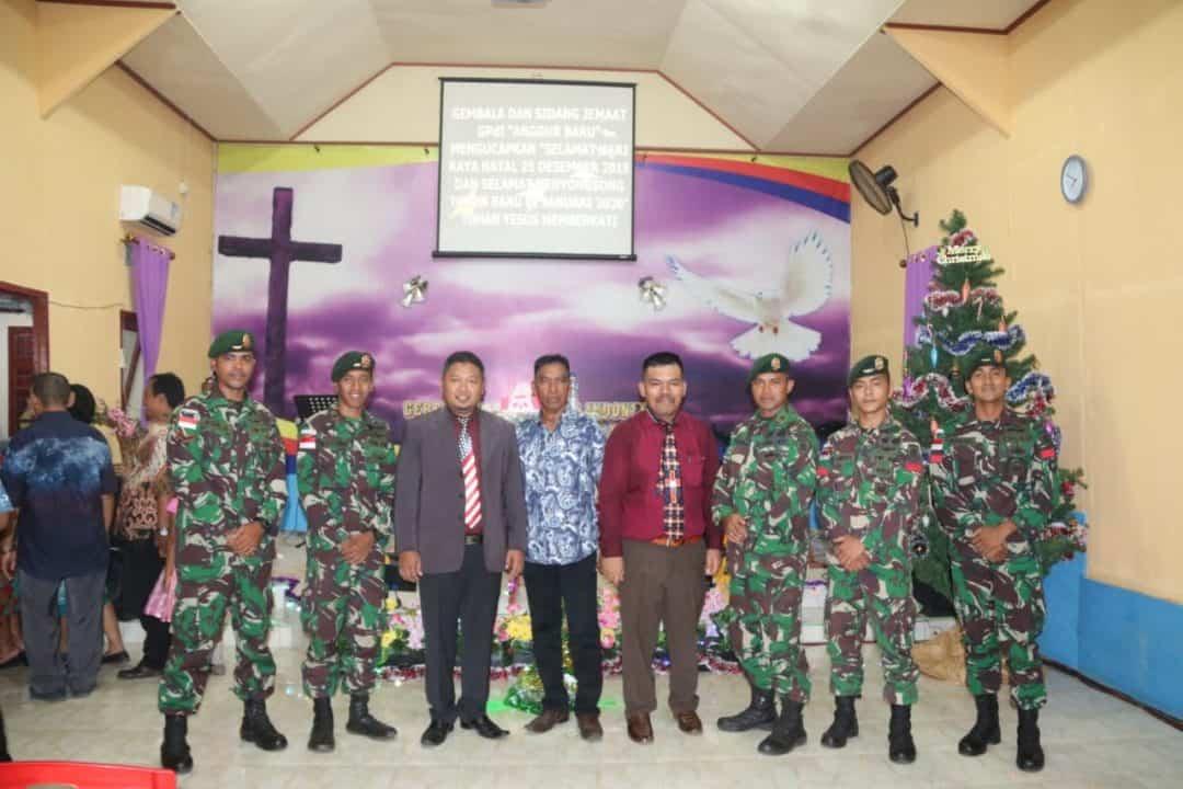 Suka Cita, Satgas Yonif MR 411 dan Warga Merauke Rayakan Natal Bersama