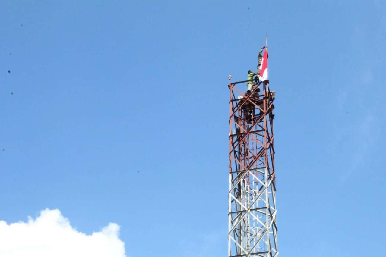 Tegaskan Papua bagian NKRI, Pemuda Asmat Kibarkan Merah Putih di Asmat