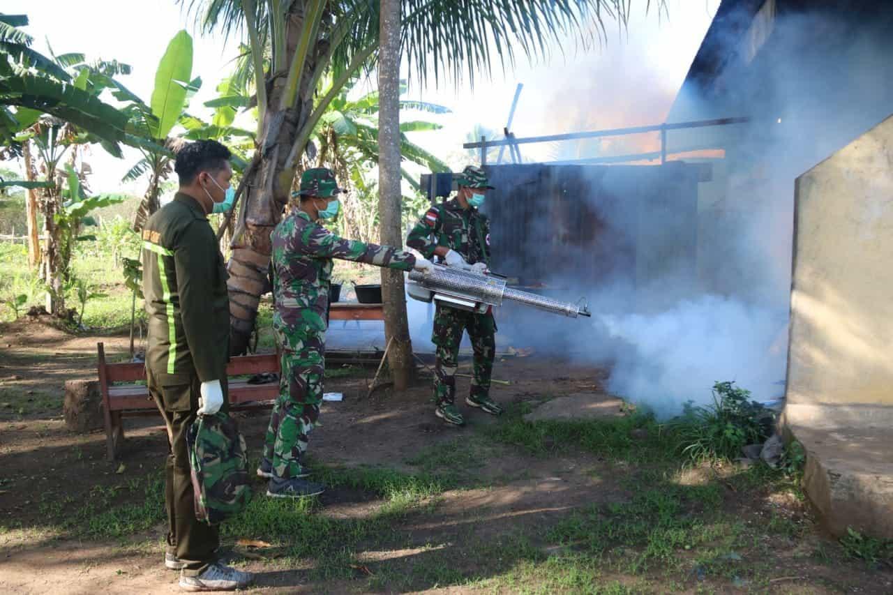 Sinergi Satgas Yonif MR 411 dan KKP Merauke Cegah Malaria di Perbatasan
