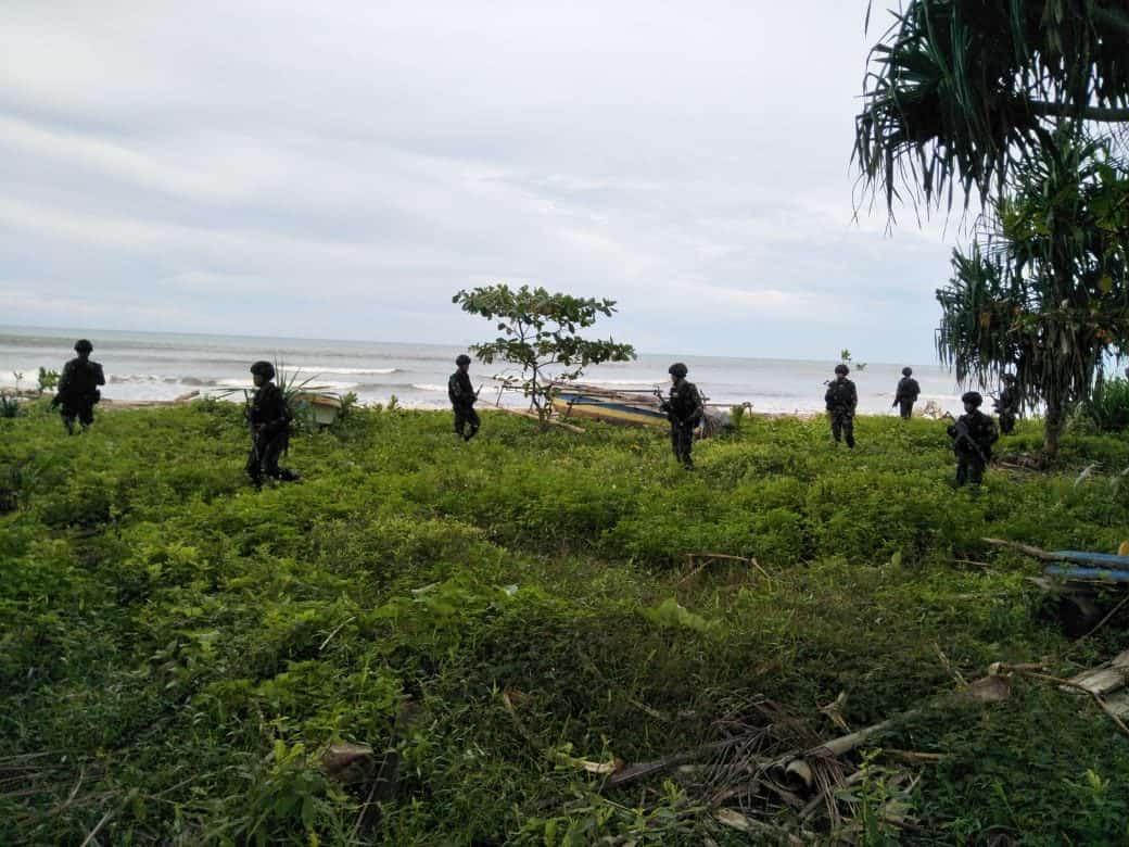 Jamin Keamanan Wiltas, Satgas Yonif 754 Patroli Rawa dan Pantai Papua