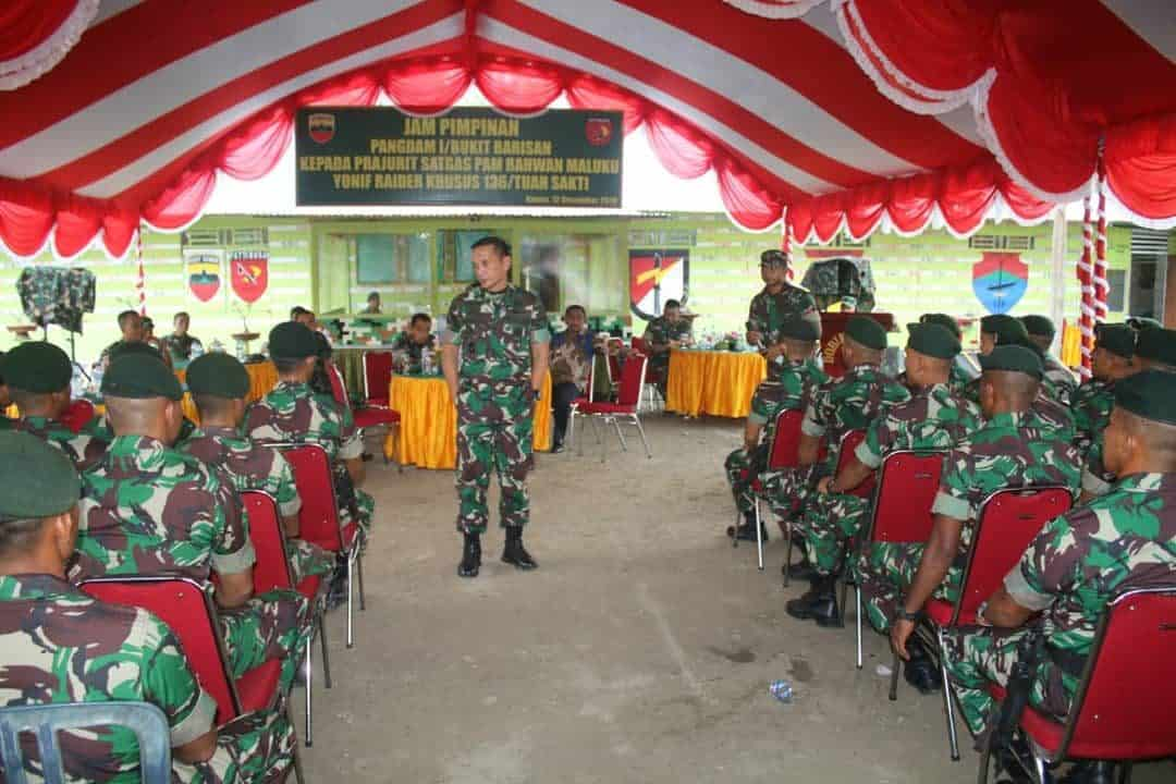 Kunjungi Prajuritnya di Seram Barat, Pangdam I/BB Tekankan Cegah Pelanggaran