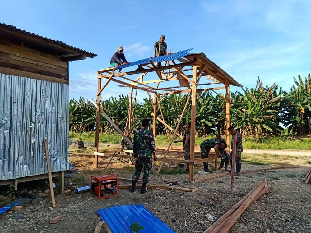 Rumah Pintar Satgas Yonif 713 Cerdaskan Anak Papua